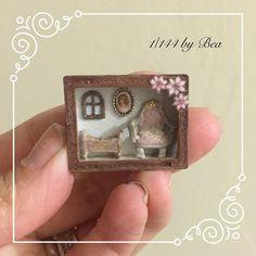 1/144 dollshouse box baby team miniature hand made by Bea wood.