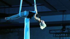 Sky Fall Aerial Silks Rain Anya.  beautiful and graceful - my favorite thing about this performance is how she makes contact with her audience
