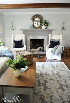 benjamin Moore…Horizon paint color ... - Lots of Before and Afters... by Dear Lillie