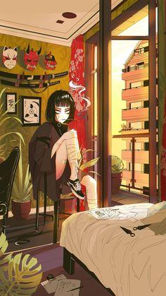 Tagged with art, anime, fantasy, cyberpunk; Shared by Art by vinne( Anime Art Girl, Manga Art, Manga Anime, Art And Illustration, Aesthetic Art, Aesthetic Anime, Art Sketches, Art Drawings, Cyberpunk Kunst