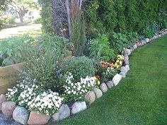 river rock flower beds rock flower bed border borders river pictures river rock flower beds