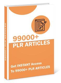 99k PLR Articles #plr #articles #plrarticles