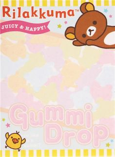 Rilakkuma bear Rilakkumarket fruit gummy mini Note Pad San-X 3