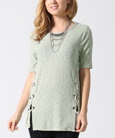 Look at this #zulilyfind! Sage Lace-Up Tunic - Plus #zulilyfinds