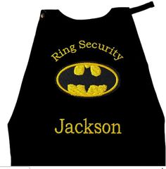 Boy's Ring Bearer Batman Cape,  Embroidered Ring Bearer Cape Personalized Wedding Photo Op on Etsy, $28.00