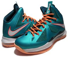"""LEBRON 10 """"MIAMI DOLPHINS"""" a.teal/seal-d.atmc teal-t.org"""