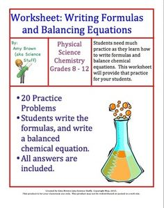 Chemical formula writing worksheet set 2
