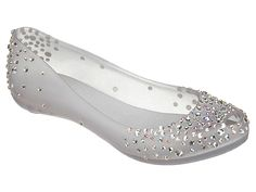 These would be perfect wedding shoes. :)  (J Maskrey Ultragirl jelly flats from Melissa)