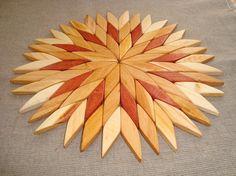 Wooden trivet. Hot mat. Wooden coaster. Wooden by WoodenOKshop