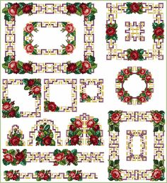 TeaTime Roses Set Embroidery Designs