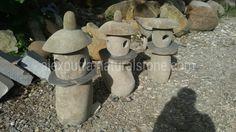 Garden lamp river stone River Stones, Garden Lamps, River Rocks