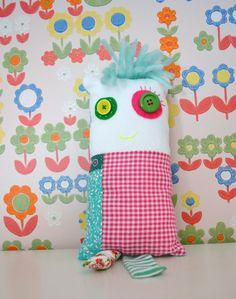 cute bright cushion doll  decorative cushion