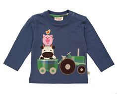 100% organic clothing for the funky little man in your life - Six Peas - tractor farm shirt