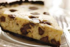 A classic kosher cheesecake made all the more delectable by adding chocolate chips. Perfect for Passover when paired with the newly available Chocolate Macaroon Pie Shell from Manischewitz or made in a traditional graham cracker pie crust for Shavuot or anytime you want a dairy dessert.