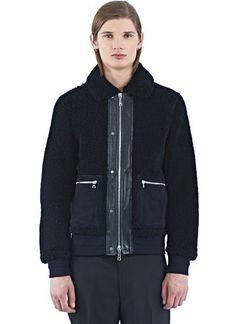 OAMC Shearling Jacket Shearling Jacket, Shop Now, Menswear, Pants, Jackets, Shopping, Design, Fashion, Trouser Pants