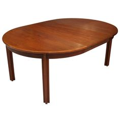 """Borge Mogensen """"Oresund"""" dining table made of teak with 1 extension leaf   From a unique collection of antique and modern dining room tables at http://www.1stdibs.com/furniture/tables/dining-room-tables/"""