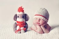 Sock monkeys and babies, two of my favorite things!