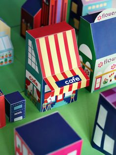 Free printable paper toy cafe - download and print 25+ houses to create your own neighborhood! Great DIY Crafts for kids - SmallforBig.com