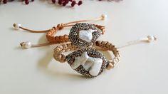 #baroque #pearl & #Swarovski #crystals shop: https://www.etsy.com/listing/211726522/baroque-pearl-swarovski-crystal-macrame?ref=shop_home_active_1