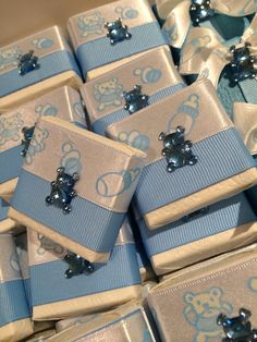 Baby boy chocolate favors!  Great for baby shower or welcome home favors for family and friends!