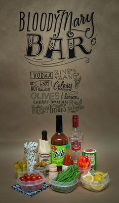 Make Your Own Bloody Mary Bar #RubbermaidSharpie #pmedia