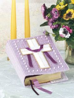 Bible Covers to make and give for Easter – knit, crochet, plastic canvas – free patterns – Grandmother& Pattern Book Plastic Canvas Books, Plastic Canvas Crafts, Plastic Canvas Patterns, Crafts To Make, Crafts For Kids, Diy Crafts, Sharpie Crafts, Sewing Crafts, Bible Covers