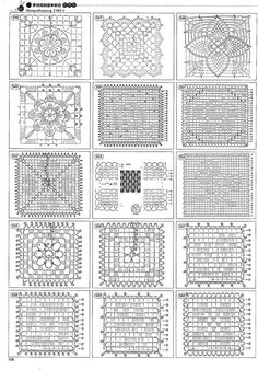 More schemes and motifs to crochet . Discussion on LiveInternet - Russian Service Online Diaries Motif diagrams only - page 11 Beautiful and more crochet pattern ~ make handmade - handmade - handicraft This Pin was discovered by Ano 2146 crochet motifs (a Filet Crochet, Grannies Crochet, Crochet Diagram, Crochet Chart, Thread Crochet, Crochet Doilies, Knit Crochet, Granny Pattern, Crochet Motif Patterns