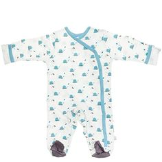 Babysoy Organic Cotton Pattern Footie Baby  Whale03 Months >>> Want to know more, click on the image.Note:It is affiliate link to Amazon.