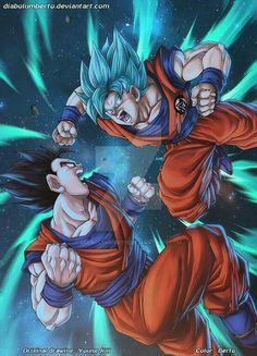 Gohan Vs Goku by diabolumberto on DeviantArt Dragon Ball Gt, Dragon Z, Manga Anime, Anime Art, Meliodas Vs, Majin, Goku And Gohan, Manga Dragon, Dbz Characters