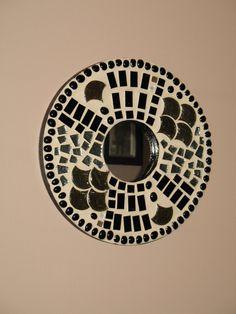 Round Mosaic Mirror by anndsart on Etsy, $30.00