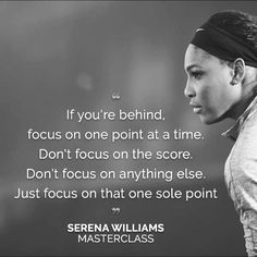 Focus on one point at a time.
