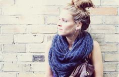 Printed infinity scarf.
