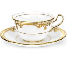 Enter to Win 2 Spode Stafford White Tea Cups as seen on Downton Abbey ~ $500 Value  Ends 2/23/14