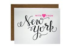 New York Letterpress Card by ParrottDesignStudio on Etsy, $5.00