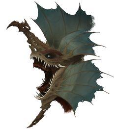 Random Dragon Head by Thalbachin on DeviantArt Dark Creatures, Alien Creatures, Fantasy Creatures, Mythical Creatures, Monster Design, Monster Art, Dragon Head, Dragon Art, Creature Feature