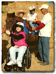 •To look at the ability of a person rather that the disability.  •To believe that everyone is worthy.  •To know that MIRACLES DO HAPPEN!    Pegasus Riding Academy for the Handicapped