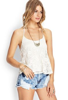 Crochet Lace Halter Top | FOREVER21 #SummerForever