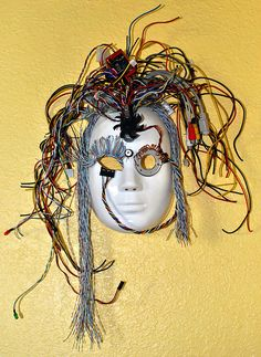 Almost finished with this...my 2nd attempt at creating masks.  Made from old computer parts & wires...created by Mark W. Patterson