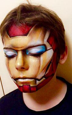 Artist - Kel Mcilwain http://www.kelmcartworks.com.au My iron man hand painted #3Dironman #ironman #ironmanfacepaint #facepainting
