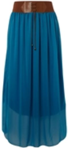 Sodamix belted boho maxi skirt with elasticated waistband and string detail.
