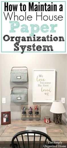 Are you struggling with paper clutter in your home? Setting up a maintainable paper organization system will help you keep that paper clutter away! #clutterhelp #ClutterHome