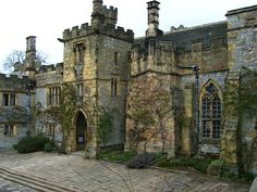 Haddon Hall, an English country house on the River Wye at Bakewell, Derbyshire
