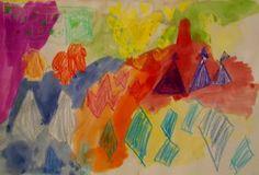 Kindergarten shape and colour designs