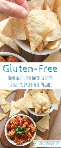 Easy Corn Tortilla Chips - Made with Two-Ingredients and 15 minutes. Take your entertaining to the next level. Made Healthy, Gluten-Free, Dairy-Free and Vegan.