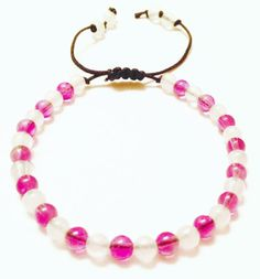 Amethyst  Bracelet  Amethyst Beads  Snow Quartz by OurUniverseShop