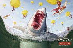 Spoleto: Shark, Spoleto Delicious Pasta, Artplan Rio de Janeiro, Spoleto, Print, Outdoor, Ads