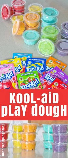 This Playdough recipe using Kool-Aid is another fun one to do with the kids. It smells so good, your kids may just eat it. via Food Fun Kids kids' crafts Crafts To Do, Diy Craft Projects, Diy Crafts For Kids, Projects For Kids, Arts And Crafts, Craft Ideas, Toddler Crafts, Project Ideas, Fun Activities For Kids