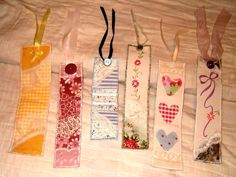more fabric bookmarks