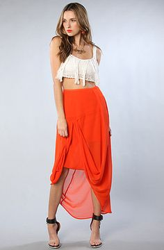 The Burning Up Skirt in Blood Orange by Finders Keepers  #MissKL and #SpringtimeinParis