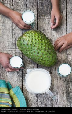 Smoothie of Guanabana - Tropical Fruits - Summer time